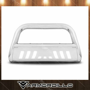 For 1998 2012 Ford Ranger 3 Bull Bar Chrome Bull Guard W skid Plate