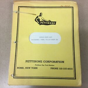 Pettibone 70 90 Crane Repair Parts Manual Book Catalog List Swing Cab Multikrane