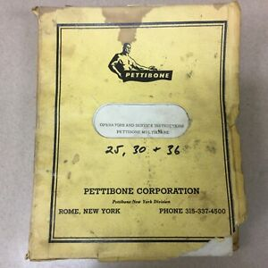 Pettibone 25 30 36 Crane Operators Service Repair O h Manual Guide Multikrane
