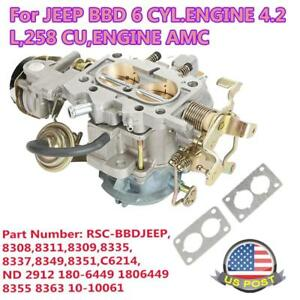 Rsc bbdjeep Carburetor For Jeep Carb Bbd 6 Cyl 4 2l 258 Cu Engine Amc Cj5 Cj7