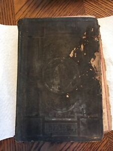 Antique 1886 Family Bible Book German