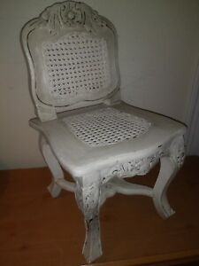 Antique Mahogany And Wicker Child S Chair From Late 1800s To Early 1900s