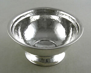Sterling Hand Hammered Candy Nut Bowl By Barbour Ct