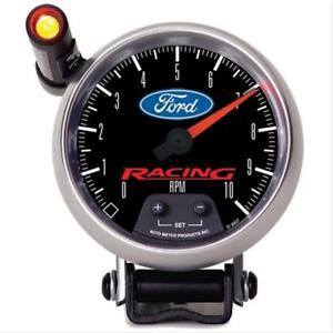 Autometer Ford Racing Tachometer 0 10 000 3 3 8 Dia Black Face 880083