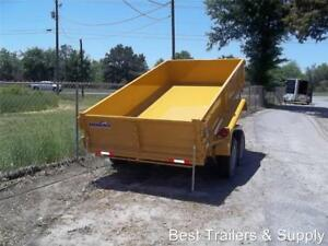 6 X 12 Hd New Dump Trailer Power Lift Equipment Trailer Ramps 6x12 Utility Dump