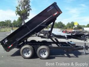6 X 12 Hd 2019 Dump Trailer Power Lift Equipment Trailer Ramps Scissor Lift