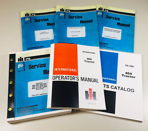 International 464 Gas Tractor Service Parts Operators Manual Engine Chassis Set