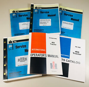 International 464 Diesel Tractor Service Parts Operators Manual Engine Chassis