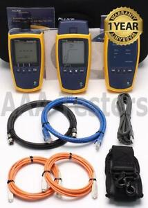 Fluke Ms2 ftk Microscanner 2 Simplifiber Pro Copper Mm Fiber Loss Test Kit