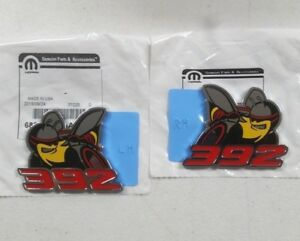 New 2019 Dodge Challenger scat Pack 392 Hemi Fender Emblems Nameplates Oem