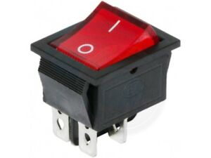 Red Button On off 4 Pin Dpst Boat Rocker Switch 16a 250v 20a 125v Ac