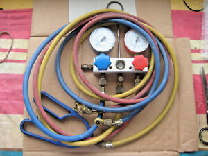 Vintage Snap On Refrigerant Manifold Gauge Set R 12 R 22 R 502 Air Conditioning
