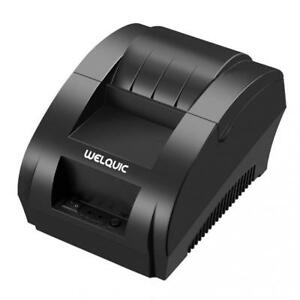 Welquic Small Portable Usb Thermal Receipt Printer Compatible With Bill