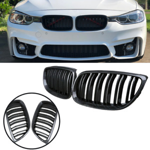 Mesh Carbon Fiber Look Kidney Grille Fit Bmw E90 E92 E93 M3 328i 335i 2007 2011