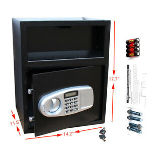 Large Electronic Home Security Digital Keypad Lock Safe Box For Cash Jewelry Gun
