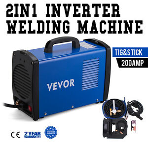 Tig 205s 200 Amp Tig Torch Stick Arc Dc Inverter Welder 110 230v Dual Voltage