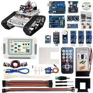 Robot Car Electronic Parts Kit Cd Tutorial Programming For Arduino Tank Platform