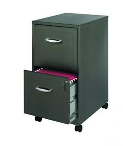 Office Dimensions 18 Deep 2 Drawer Mobile Metal File Cabinet Square
