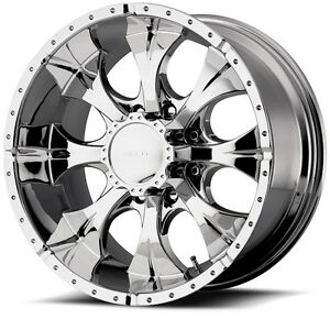 17 Inch Chrome Wheels Rims Chevy 2500 3500 Dodge Ram Ford Truck 8 Lug Helo He791