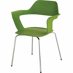 Mayline Safco Bandi Shell Stack Chairs Set Of 2 Green Model 4275gn