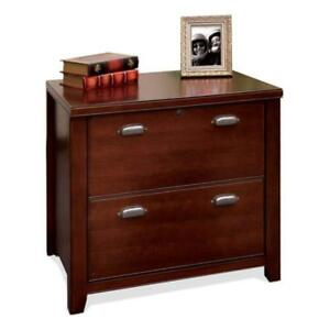 Kathy Ireland Home By Martin Tribeca Loft Cherry 2 Drawer Lateral File