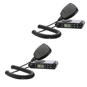 Midland Micromobile Gmrs 15 Channel 2 Way Radio W Antenna Microphone 2 Pack