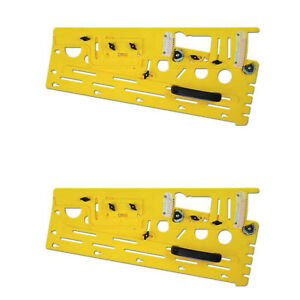 Microjig Woodworking Microdial Table Saw Tapering Jig Accessory Yellow 2 Pack