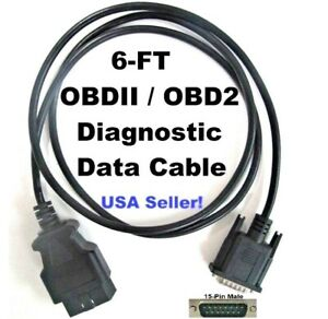 New Obd2 Obdii Main Data Cable For Actron Cp9449 Scan Tool Code Reader Scanner