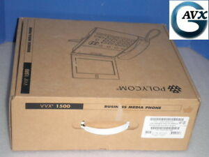 New Polycom Vvx 1500 D Voip Business Media Phone 1y Wrnty In Box 2200 18064 025