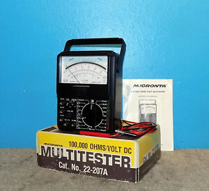 Micronta Radio Shack 22 207a Multitester 100k vdc W Orig Box Probes Manual