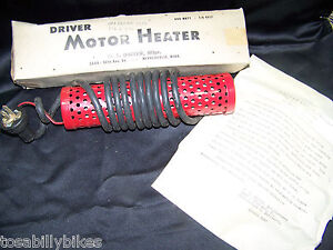 Vintage Nos W T Driver Motor Heater 110volts 300 Watts Hot Rod Model A Model T