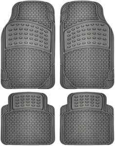 Car Floor Mats For All Weather Rubber 4pc Set Gray Semi Custom Fit Heavy Duty