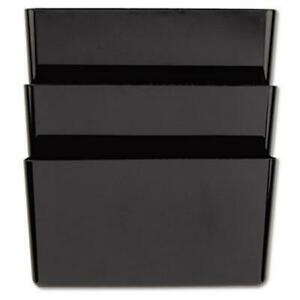 Recycled Wall File 3 Pocket Plastic Black