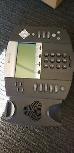 Two Polycom Ip 550 Poe Hd Sip Phone With Stand And Power Supply
