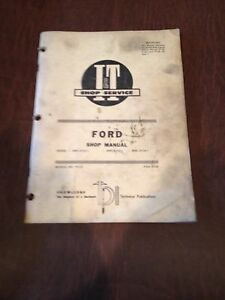 Ford I t Tractor Shop Service Repair Manual Book 2000 3000 4000