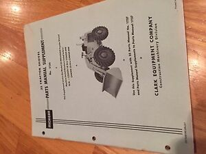 Clark Michigan Shovel Tractor 35 Wheel Loader Parts Manual