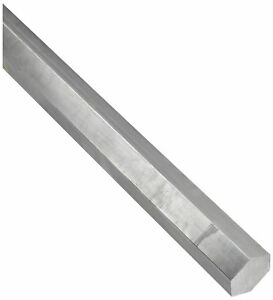 316l Stainless Steel Hex Bar Unpolished Mill Finish 1 2 Across Flats 36 Length