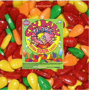 Cry Baby Extra Sour Tears 3lb Bulk Candy Tart Tangy Fruit Dubble Bubble Wonka