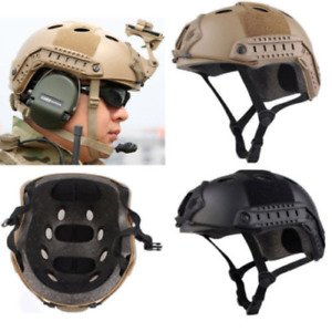 Army Tactical Cover Airsoft Paintball Climbing Protective Combat FAST Helmet