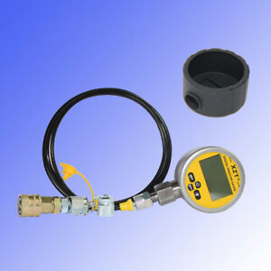 10000psi Digital Hydraulic Pressure Test Coupling gauge Boot Kit For Caterpillar