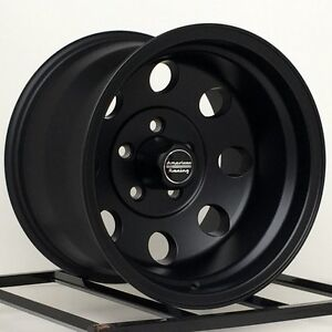 15 Inch Black Wheels Rims Chevy Gmc Truck 5 Lug 5x5 American Racing Baja 15x10 4