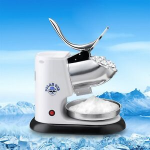 Professional Ice Crusher Snow Cone Italian Ice Maker Counter Top Portable