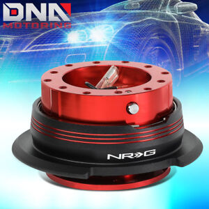 Nrg Srk 290rd bk rd Steering Wheel Quick Release Gen 2 9 Red Body black Ring