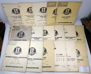 Implement Tractor Lot John Deere Ji Case Ih Minneapolis Moline Shop Manual