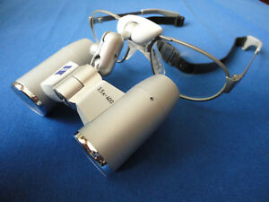 Zeiss Eyemag Pro F Loupes 3 5 X 400 Mm Dental Surgical 50 18 Titanium Frame