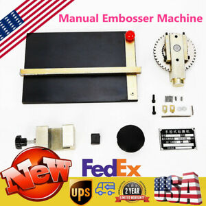 Top Manual Embosser Machine Metal Plate Stamping Embossing Dog Tag Printer New