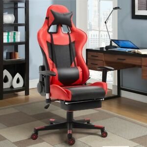 Home Office Adjustable High Back Gaming Racing Chair Lumbar Support 3 Color Us