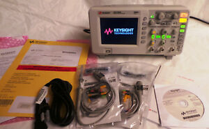 Keysight Dso1052b Oscilloscope 2 Channel 50 Mhz with 2 New Probes