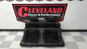 2011 2014 Ford Mustang Gt Convertible Oem Black Leather Rear Seat Top Bottom