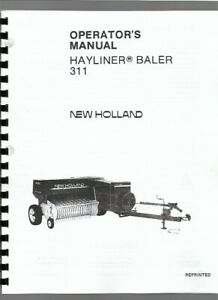 New Holland 311 Square Baler Operators Owners Manual